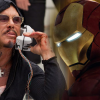 "New IRON MAN 2 photos: Happy Hogan carries the ""Suit-case"", Mickey Rourke and his cockatoo"
