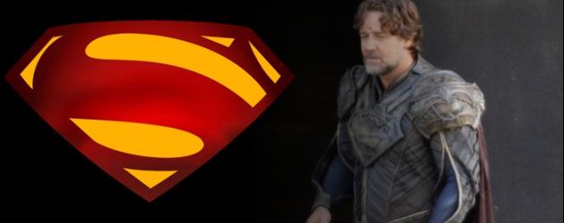 First spy photos of Russell Crowe as Jor-El in MAN OF STEEL – costume details revealed