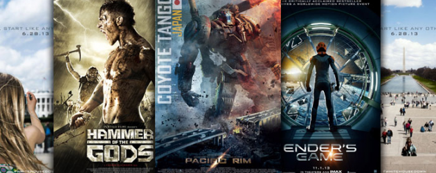 New Movie Posters: PACIFIC RIM, HAMMER OF THE GODS, ENDER'S GAME, WHITE HOUSE DOWN