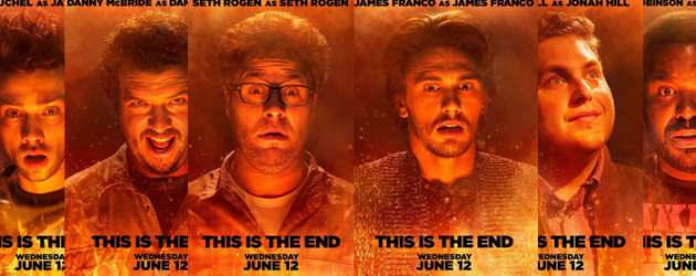 Six THIS IS THE END character posters feature Seth Rogen, James Franco, Jonah Hill & more