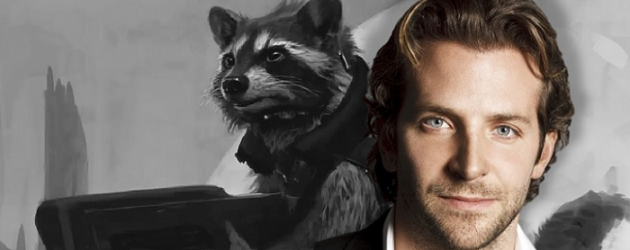 Bradley Cooper is Rocket Raccoon in GUARDIANS OF THE GALAXY