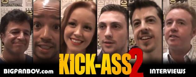KICK-ASS 2 video interviews: Aaron Johnson, Chris Plasse, Lindy Booth, Donald Faison and Mark Millar & JRJR