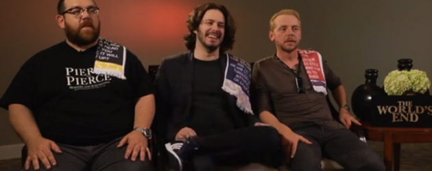 THE WORLD'S END video interview with Nick Frost, Edgar Wright and Simon Pegg