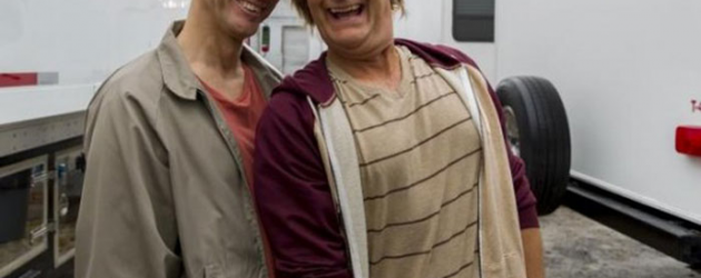 First photos of Jim Carrey and Jeff Daniels in DUMB AND DUMBER TO as Harry & Lloyd