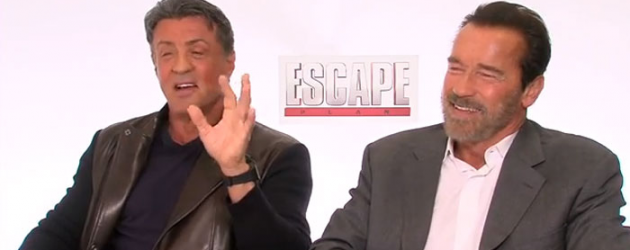 Video interview snippets: Sylvester Stallone & Arnold Schwarzenegger talk about ESCAPE PLAN