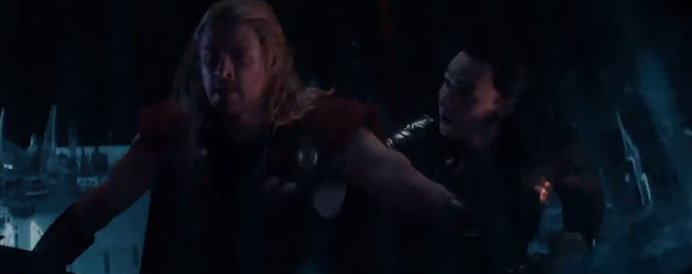 THOR: THE DARK WORLD new clip – Thor and Loki's high-flying Asgard hijinks