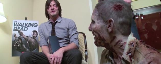 "Video: THE WALKING DEAD ""Zombie Prankster"" Nick Santonastasso gets Norman Reedus pretty good"