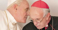 THE TWO POPES review by Patrick Hendrickson – Anthony Hopkins & Jonathan Pryce get religious