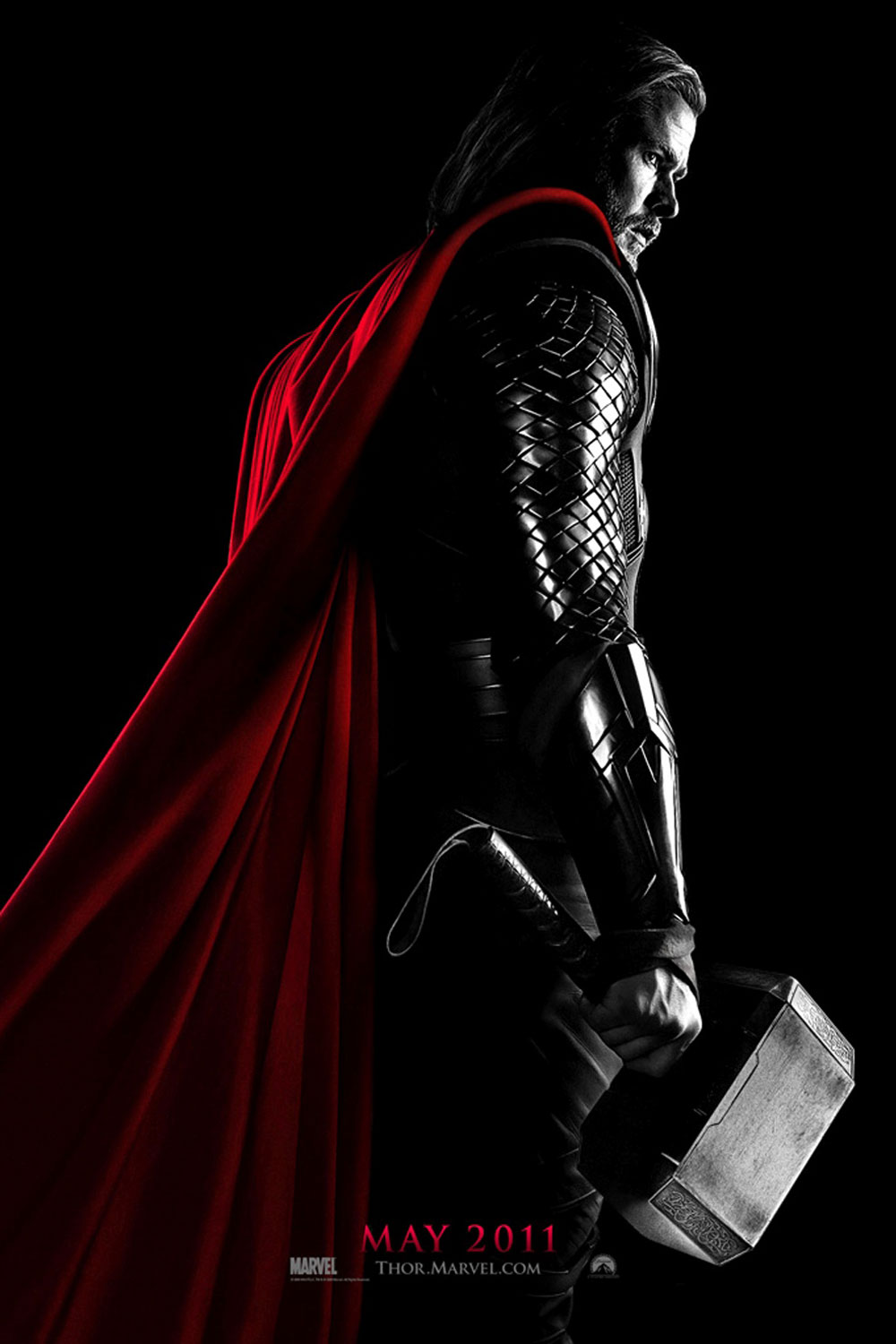 marvel s thor movie poster chris hemsworth has his hammer ready