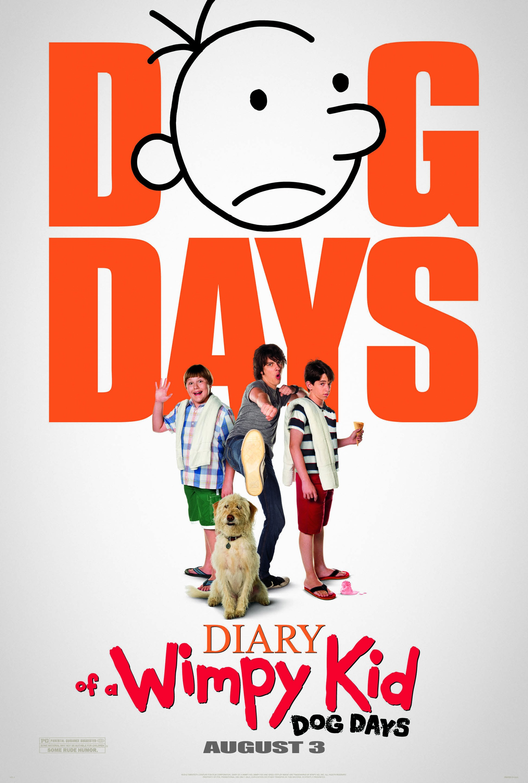 Diary of a wimpy kid dog days is directed by david bowers and stars
