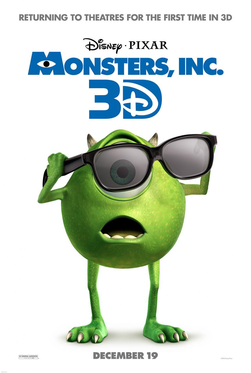 Monsters Inc 3D - Poster - 001