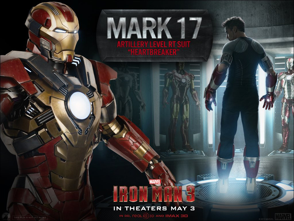 Update now six new iron man 3 suits revealed including the iron man 3 armors mark 17 heartbreaker voltagebd Gallery