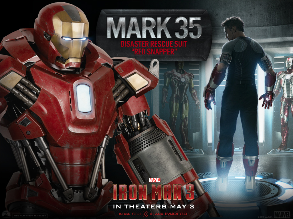 Iron Man 3 - Armors - Mark 35 (Red Snapper - Close)