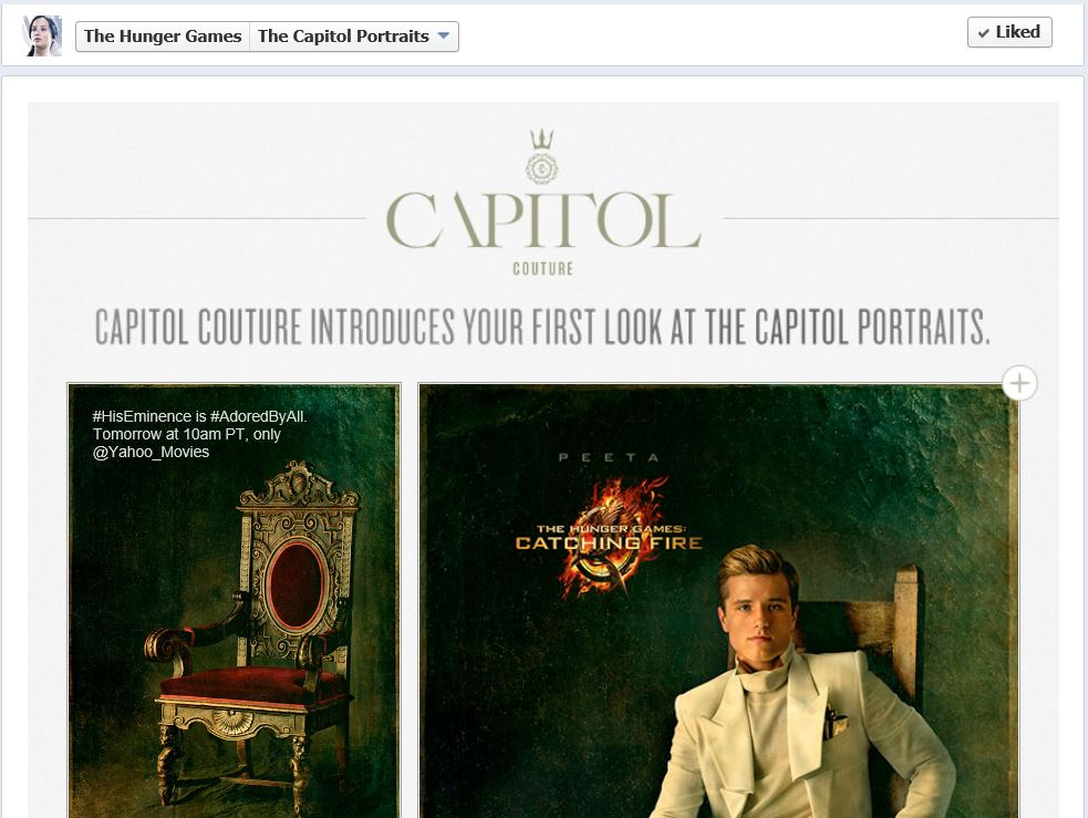 The Hunger Games Catching Fire - Capital Couture Facebook