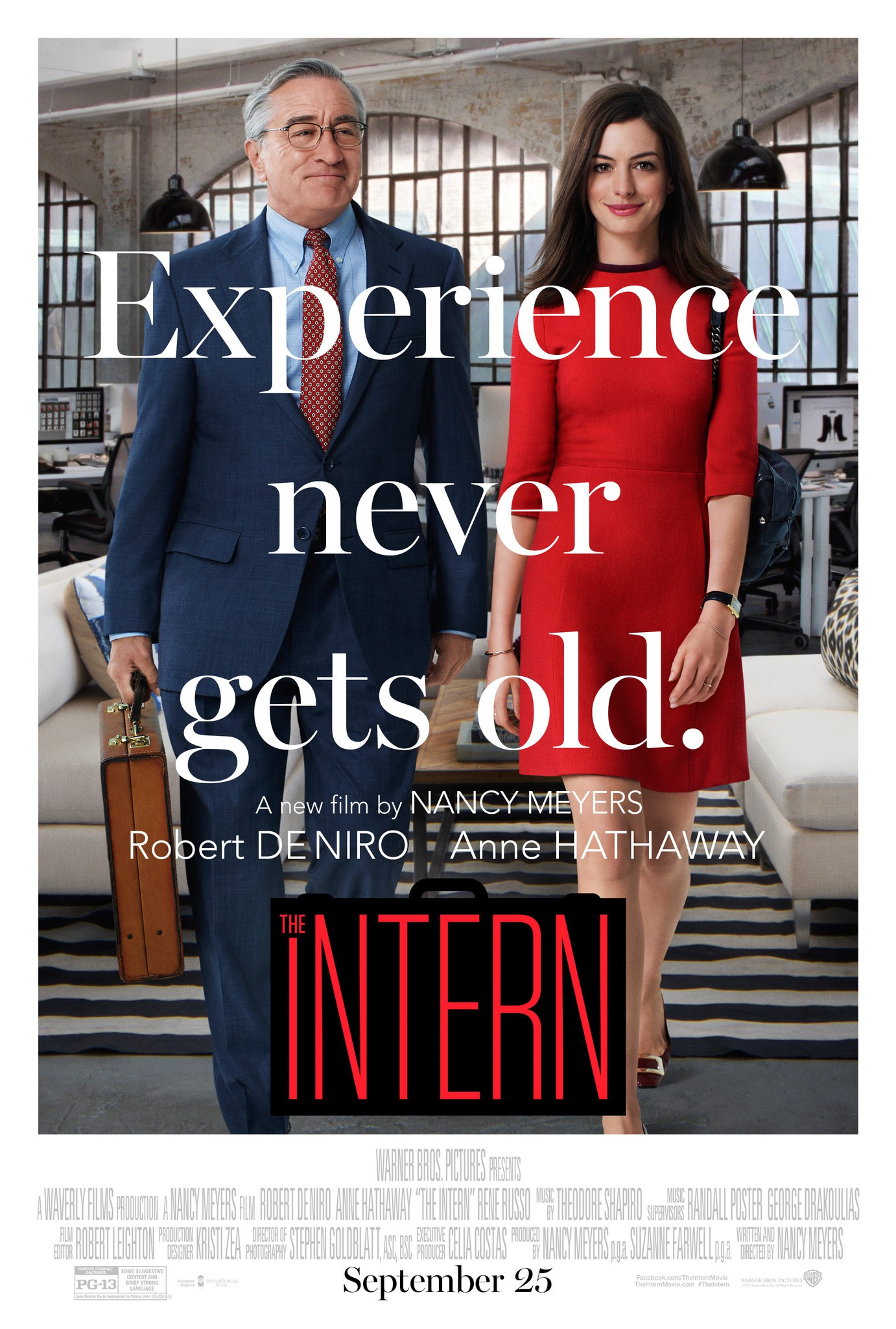 new trailer poster for nancy meyers 39 the intern starring. Black Bedroom Furniture Sets. Home Design Ideas
